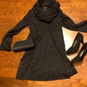 White House Black Market Sweater Dress + Tights
